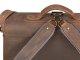 Leder Aktentasche mit 2 Fächern und Rückengarnitur