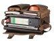 Leder Aktentasche mit 3 Fächern und Rückengarnitur